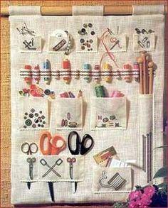 hanging sewing kit.