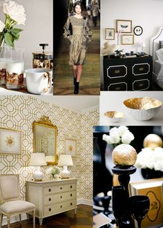 gold accents
