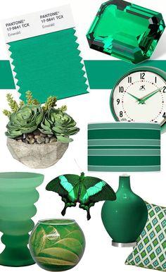 The Pantone 2013 Color of the Year is Emerald! | Lighting & Interior Design Ideas Blog #pantone #emerald #green #2013