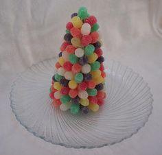 How to make a gumdrop Christmas tree