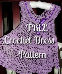 Crochet summer baby dress FREE pattern, so cute! thank so for sharing with us xox