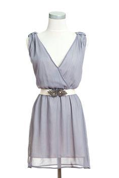 Gray Ladies Cocktail Dress by Jintas on Etsy, $25.00