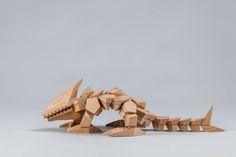 Wooden creature designed by Antoni Bielawski