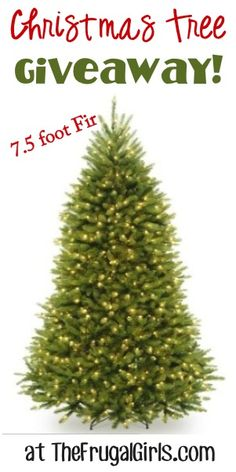 Giveaway: Win a Pretty Pre-Lit Christmas Tree!! ~ at TheFrugalGirls.com #trees