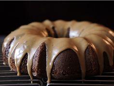 Applesauce Cake with Caramel Icing