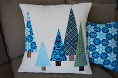 Mom's Christmas Pillows by Sew Katie Did, via Flickr
