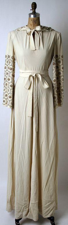 11-11-11  Wedding Dress, Norman Norell, 1942, American, silk