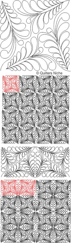 SCF-266 Feather Triangle 1 quilting design