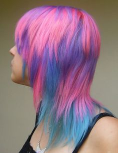 cotton candy hair!