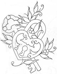 key tattoo, change flowers to match one non back, add kids names