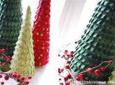 ruffle christmas trees. fun Christmas Craft!