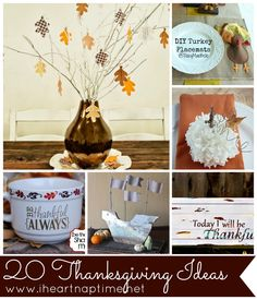 20 fun Thanksgiving Ideas on iheartnaptime.com