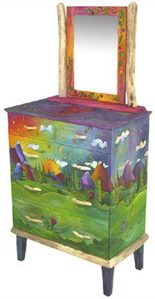 beauti paintedfurnitur, color, paint furnitur, art, stick furnitur, funki furnitur, beauti handpaint, painted dressers, funki paint