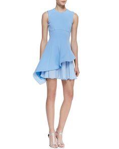 Cushnie et Ochs Sleeveless Asymmetric Flounce Dress