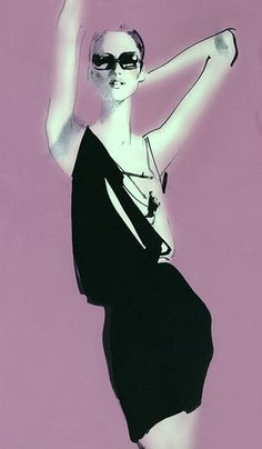 Fashion Illustration by David Downton.