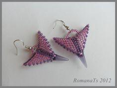 spiking bead earring, spike bead
