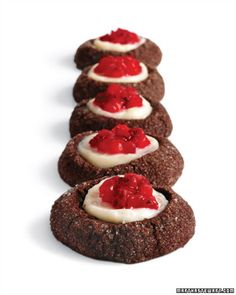 Chocolate-Strawberry Thumbprints - Martha Stewart Recipes