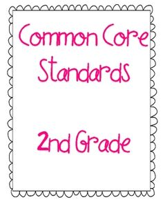 All Common Core Standards for 2nd grade