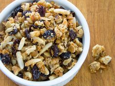 Cranberry Walnut Paleo Granola | 29 Tasty Vegetarian Paleo Recipes