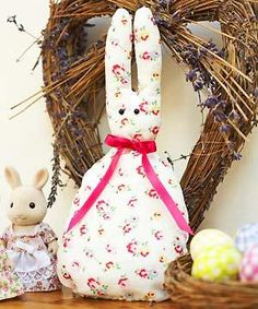 Sew an Easter bunny :: Free sewing pattern - allaboutyou.com