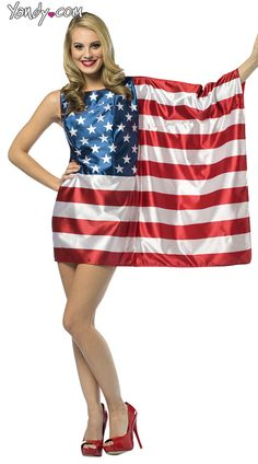 American Flag Costume  LOL