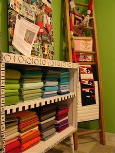 roomssew room, wooden ladder, quiltcraft room, art quilt, sewingcraft room, craft roomssew, decor idea, quilt room