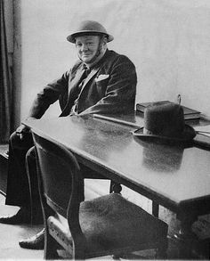 Attempting to bomb Britain into submission, the German Luftwaffe attacked the city of Ramsgate while Churchill was visiting in August 1940.    Taking cover in an underground shelter, he exchanged his trademark civilian hat for a steel helmet.    The city's mayor forced him to discard his cigar, eliciting the rueful response,'There goes another good one.