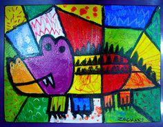 croc inspir, colour creatur, romero britto, glass anim, anim idea, stain glass, anim art, stained glass, 500391 pixel
