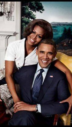 President Barack Obama and his first lady!