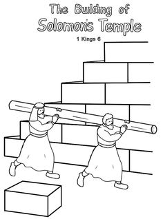 building Solomon's temple printable booklet