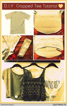 diy, diy projects, diy craft, handmade, diy ideas, diy cropped tee