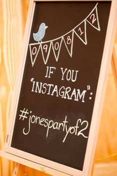 Instagram board for wedding! Create a hashtag and ask your guests to hashtag any photos they instagram from the wedding!