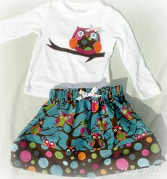 Add a cloth # next to the owl for a fun Birthday girl dress to represent her new age--maybe its even a whimsical owl themed party