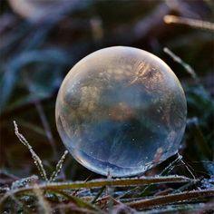 Frozen Soap Bubbles by Angela Kelly