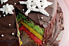 Italian Rainbow Cookie Cake - joanne-eatswellwithothers.com cookie cakes, cooki cake, rainbow cakes, italian rainbow, rainbow cooki, sponge cake, birthday cakes