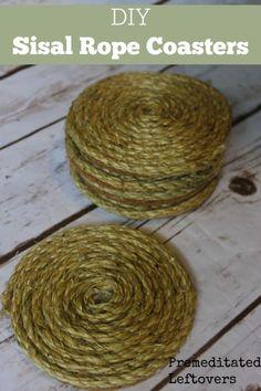 DIY Sisal Rope Coasters Tutorial