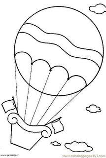 hot air balloon template