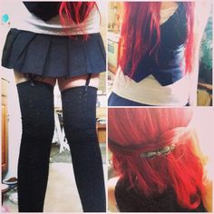 LedaBunnie: feelin like a little anime #red hair