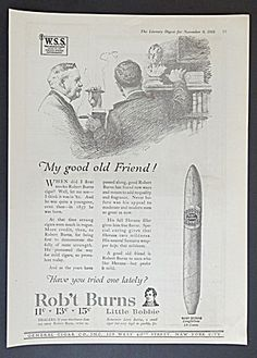 Rob't Burns Cigar Ad