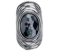 Or Paz Sterling Faceted Hematite Elongated Ring — QVC.com