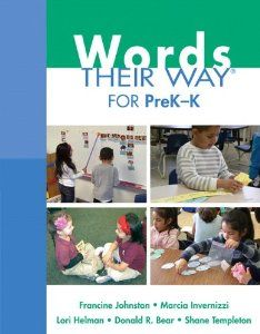 Hmmm, it would be interesting to see how this is different...or what it adds.   ($21) Amazon.com: Words Their Way for PreK-K (Words Their Way Series) (9780132430166): Francine R. Johnston, Marcia A. Invernizzi, Lori Helman, Do...