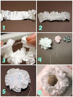 Make a Ribbon Flower with Pleated Satin