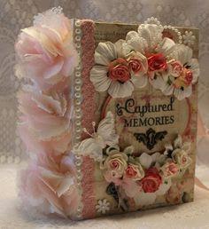 "MOMz~Cindy ""CAPTURED MEMORIES"" girl shabby vintage Prima premade scrapbook album"