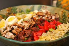 Cobb salad with basil vinaigrette