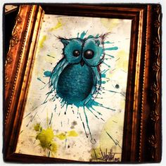 Splatter Owl Painting by Joey Martin