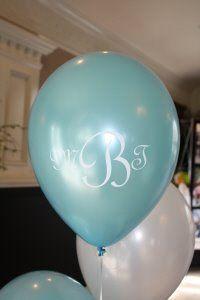 Monogrammed balloons