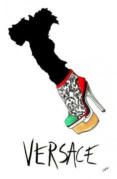 Wacky Fashion Shoe Illustrations by Achraf Amiri