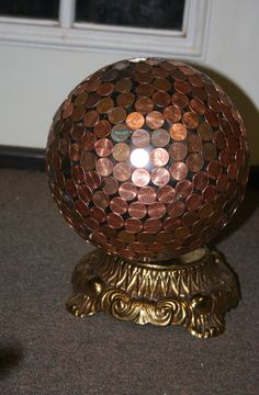 Penny bowling ball at https://www.facebook.com/TheVintageGarden