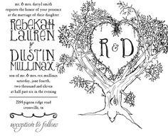 invitation design, tree wedding invitations, rustic tree, weddings, rsvp, awesom invit, trees, marri, recept idea