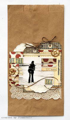 Paper bag collage by Finnabair